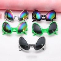 Party Masks Funny Aliens Costume Glasses Rainbow Lenses ET Sunglasses Halloween Props X7YA