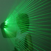 Party Laser Beams Green Gloves Dj Wears Red Robot Men Show Projector Bar Performance Stage Costumes Led Decoration