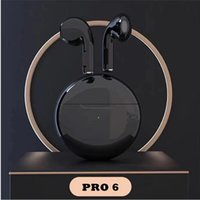Wireless Headphones Bluetooth Earphone with Microphone Tws Pro 6 Earbuds in Ear Buds Running Earpieces for Xiaomi Huawei Iphone