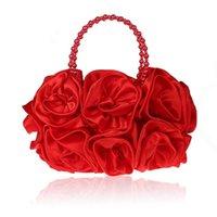 Luxuriöse 3D-Blumen-Abendtasche Dreidimensionale Tageskupplung Frauen-Party-Dinner-Handtasche Frauen-Kupplungen mit Perlengriff WY84 Q0709