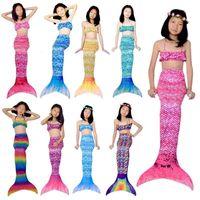Summer Mermaid fishtail skirt swimming suit girl swimming bikini beach swimsuit stage performance Costume
