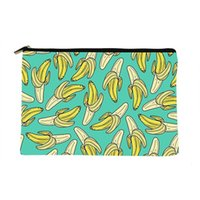 Cosmetic Bags & Cases Women Banana Jade Printed Make Up Bag Fashion Cosmetics Organizer For Travel Colorful Storage Lady