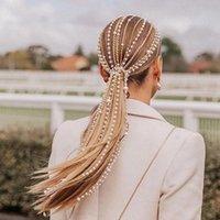 Saç Klipler Barrettes İmitasyon İnci Püskül Klip Dekoratif Zincir Hip-Hop Stil Dekorasyon için styling BN