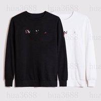 자수 21SS 남성 여성 디자이너 후드 패션 까마귀 겨울 남자 긴 소매 땀 스웨터 옷 후드 풀오버 의류 스웨터 셔츠