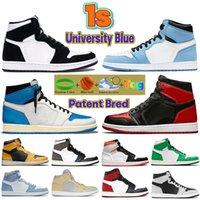 Mais novo 1 1s universidade azul basquete shoes escuro mocha patente criada torção hyper royal se sesame pólen unc preto branco homens homens mulheres sneakers