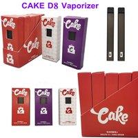 Cake Disposable Vape Delta 8 Vapes Pen Rechargeable Cigarette Snap on Vaporizers E Cigarettes 270mah Empty 1.0ml Vaporizer with Micro USB Charging Port D8 Device