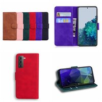 Skin Feel Plain PU Leather Wallet Cases For Sony Xperia 5 III 10 1 L4 Xiaomi 11T Pro Redmi 10 Hand Feeling Business ID Card Slot Holder Magnetic Retro Men Flip Cover