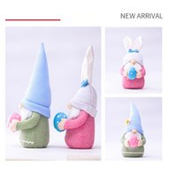 Easter Bunny Gnome Spring Gnomes Ostern Fachlose Bunny Zwerg Puppe Rabbit Geschenke Schwedisch Zwerg Urlaub Home Decoration 168 v2