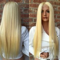 150 Density Brazilian Honey Blonde Human Hair Lace Front Wigs Color 613 #Straight Thick Glueless Full Lace Human Hair Wigs With Baby Hair