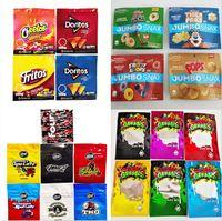 В наличии Медикалы DORITOS Gummy Candy Bags 500 мг Cheetos Hrungy Edibles Упаковочная сумка 4 Типы Fritos Infence Snucks Jumbo Snax California Запах Mylar Пакеты