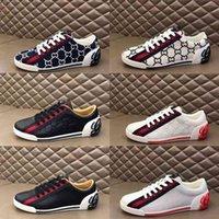 Haute Qaulitys Luxe Hommes Vintage Sneaker imprimé Low-Top Design Mesh Slip-On Slip-Ont Dame Fashion Mixte Trakers