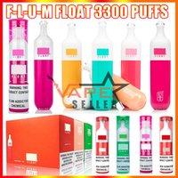 Float Disposable Vape Pen E Cigarette Device med 1100mAh Batteri 8ml Förfylld Pod Cartridge 3000 Puffs Flume Big Damp Kit