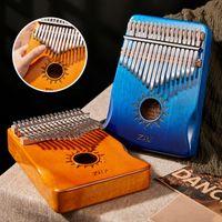 Kalimba 17 مفتاح 21KEYS الإبهام خشبي البيانو ألعاب الموسيقى الاطفال تعلم أصابع الموسيقى البيانو لإعطاء الأطفال الآلات الموسيقية اللعب