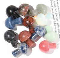 Factory Christmas Decorations Mushroom-Shape Chakra Stones, Natural Healing Crystals Agate Stone Quartz Chakras Reiki, Yoga, Flower FWA8767