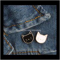 Pins, Takı Karikatür Sevimli Kedi Hayvan Emaye Broş Pin Rozeti Kadınlar Için Dekoratif Takı Tarzı Broşlar Hediye T353 Bırak Teslimat 2021 XS4OM