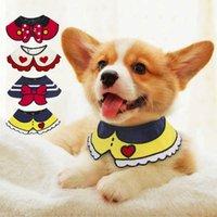 Dog Collars & Leashes Cute Cat Bandana Collar Soft Dogs Scraf Bibs Cartoon Print Pet Accessories Small Cats Neckerchief