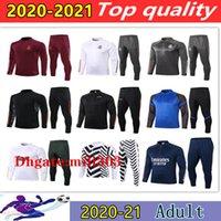 2020 2021 Real Madrid Uomini tuta allenamento di calcio tuta allenamento di calcio 20 21 Milan Survêtement de foot CHANDAL fare jogging