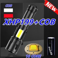Flashlights Torches 500000 Glare Super XHP199 Cob Powerful Led Torch High Power USB Rechargeable Tactical Flash Light 18650 Lante