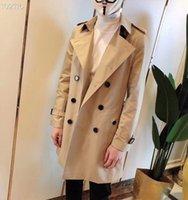 Men's Jackets Novo casaco trench coat masculino slim estilo britânico KCAG
