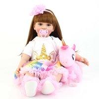 60cm Big Size Silicone Vinyl Reborn Doll Toy Lifelike Princess Bambino Bambini con tema Unicorno Alive Bebe Girl Regalo di compleanno Q0910