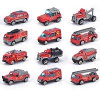 alloy engineering car fire series toy set children's return pocket model