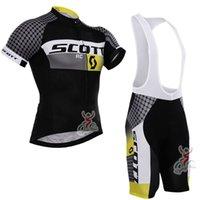 Scott Cycling Jersey Short Sleeve Bib 바지는 빠른 건조 통기성 젤 패드 프로 팀 남성 사이클링 의류 크기 XXS-6XL 32204를 설정합니다
