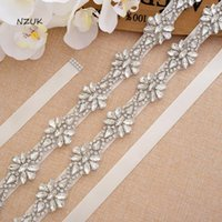 Wedding Sashes Pearls Hand Beaded Belts Silver Rhinestones Bridal Sash Crystal Belt For Dresses Y166S