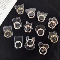 Clear Crystal Ring Ring Grip Suportes PC Transparentes PC 360 Graus Rotação Fivela Stand Montagens Universal Cell Phone Brackets Kickstand 12 estilos