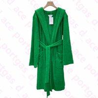 Vintage Jacquard Robes Robes SO Mode Green Serviette Design Robes de bain Femme Automne Hiver Coton Bathrobes Nouveau Arrivé Confortable Pyjamas à capuche