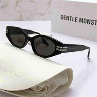 Gafas de sol de moda 2021 Gentle Marca Ghost Square Short Pequeñas Mujeres Hombres Viajes Vintage Retro Ocultos Rectángulo de Soleil Femme UV400 con estuche