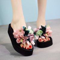 2021 mulheres arco verão sandálias slipper interior outdoor flip-flops praia sapatos nova moda feminina casual flor chinelo presente