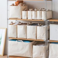 Storage Bags Folding Box Foldable Cloth Cube Basket Bins With Handle For Toys Organizer Containers Drawers