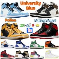 Air Jordan 1 1 1 Mens Баскетбольная обувь Университет синий Электро Оранжевый темный Mocha UNC Chicago Twist Light Smoke Серые Женщины Бегущие кроссовки
