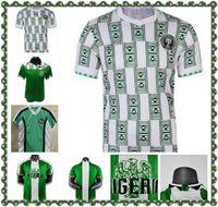 1998 Okocha Retro Jersey 98 Kanu Oliseh Finidi Yekini Babangida África Ocidental África Nacional Camisa de Futebol Clássico