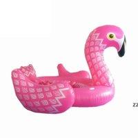 5 m Yüzmek Havuzu Dev Şişme Unicorn Partisi Kuş Adası Büyük Boy Unicorn Tekne Dev Flamingo Şamandıra Flamingo Adası için 6-8 Person HWF9942