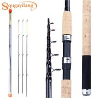 Alimentador de Sougayilang Haste de Pesca 3.0 / 3.3 / 3.6m 6 Seções Viagens Pólo Pole Carpa 60-180G Tackle Tools Boat Rods