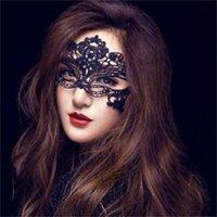 Wholesale máscara femenina barata con encaje negro máscara facial korea dama sexy velo de la fiesta de la fiesta
