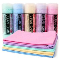 Imitación buckskin PVA absorbente conveniente cómodo aseado perro perro gato limpieza baño toalla ooa4633 vwv0