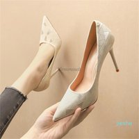 fashion-Dress Shoes Heeled Women Korean Pointed Shallow Mouth High Heels Stiletto Sexy Professional