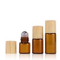 1 ml 2ml 3ml 5ml Parfüm Rolle auf Glasflasche Bernstein klar mit Metallkugelrolle ätherische Ölfläschchen