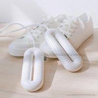 Шкаф для одежды для хранения обуви Сушилка для обуви Интеллектуальные двухъядерные кольца нагревательные сушилки 3-скорость Регулировка фиолетовая дезинфекция дезинфекции света