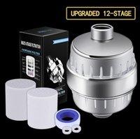 10-15 Stufe 2 Austauschbare Kartuschen Kit Wasserfilter Entfernt Chlor Reduziert Flooridchloramin-filtrierter Duschkopf 11IC