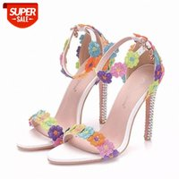 Spring summer Women Sexy High Heels Shoes Breathable Hollow Lace Round Toe Square heel 11CM Wonen Pumps Fashion Office #Yq6U