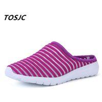 Tosjc New Style Woman Light Peso Pantofole Anti-slip Casual Scarpe da donna rosa Colore Estate Calzature 9 201209