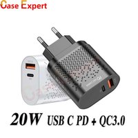 QC3.0 PD شاحن سريع 20W TYPE C USB شحن سريع محول المنافذ المزدوجة شواحن جدار الهاتف لفون 12 برو ماكس XR