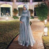 캐주얼 드레스 무슬림 바닥 길이 임신 한 드레스 여성 스팽글 플러스 사이즈 출산 긴 임신 Vestidos 큰 스윙 A 라인