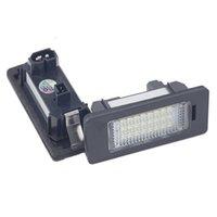 1 زوج لوحة ترخيص ضوء LED رقم لوحة حامل مصباح لا خطأ ل BMW E39 E60 E60N E61 E90 E91 E90N E92 E93 E46 CSL E82 سيارة
