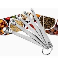 Paslanmaz Çelik Mini Mutfak Aracı Baharat Ölçüm Kaşık Beş Parça Set Kombinasyon Pişirme GWB7614