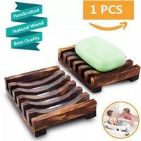 Ahşap Sabunluk Taşınabilir Duş Sabunları Tutucu Kaymaz Soapbox Bambu Raf Kılıf Tepsi TutucularShower Plaka Banyo Malzemeleri WLL533