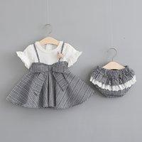 2021 Kleider LZH Sommerprinzessin für Mädchen Casual Plaid Baby Party Kleidung Neugeborenen